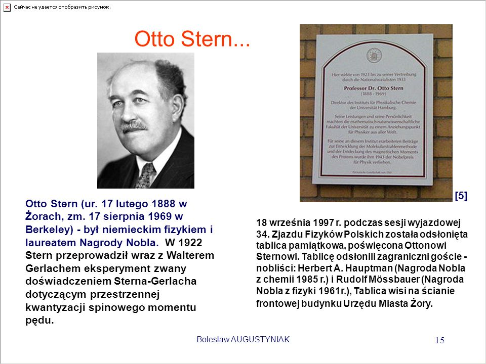 Otto Stern... [5]